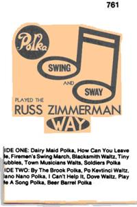 Russ Zimmerman and his Orchestra - Vol 5  Polka Swing & Sway Re-Issue of KLP 20