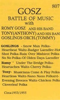Romy Gosz and his Orchestra - Romy Gosz, Tony Gosz and Goszlings