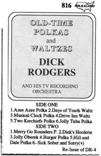 Dick Rodgers and his TV Recording Orchestra - Vol 8 Old Time Polkas & Waltzs Dr 4