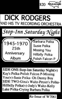 Dick Rodgers and his TV Recording Orchestra - Vol 12 Stop - Inn Saturday Night  W7061