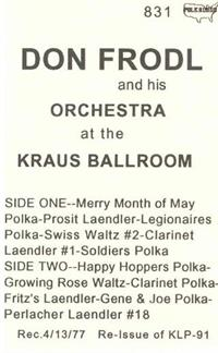 Don Frodl and his Orchestra - Vol 4 Kraus Ballroom