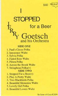 Jerry Goetsch and his Orchestra - Vol 4 I Stopped For A Beer, Re-Issue of Cuca K-2059